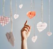 Сердца бумаги Valentin Стоковые Фотографии RF