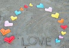 Сердца валентинки бумажные Стоковые Изображения