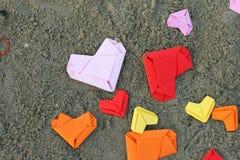 Сердца валентинки бумажные Стоковые Изображения RF