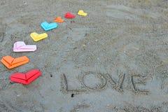 Сердца валентинки бумажные Стоковые Фотографии RF