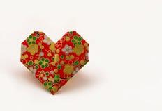 Сердца валентинки Origami Стоковое Изображение RF