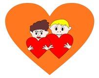 Сердца валентинок стоковое фото rf