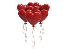 сердца воздушного шара иллюстрации 3D красные Стоковое Изображение RF