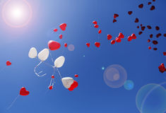 Сердца воздушного шара Стоковое фото RF