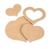 Сердца выреза сделанные из картона Стоковые Изображения RF