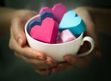 Сердца в руке Стоковые Изображения