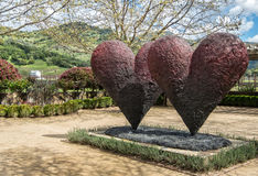 Сердца в саде Стоковая Фотография