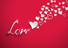 Сердца влюбленности отрезанные от белой бумаги Стоковые Изображения RF