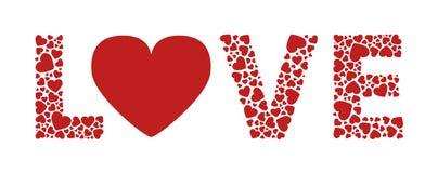 Сердца влюбленности иллюстрация штока