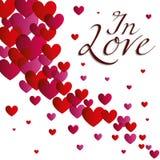 Сердца, влюбленность и романтичное векторной графики иллюстрации Стоковые Изображения RF