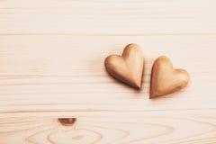 сердца 2 деревянные Стоковое фото RF