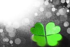 сердца 2 деревянные Стоковые Изображения RF