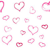 сердца делают по образцу безшовное также вектор иллюстрации притяжки corel Стоковые Фотографии RF