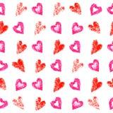 сердца делают по образцу безшовное Стоковые Фото