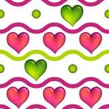 сердца делают по образцу безшовное Стоковое фото RF