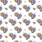 сердца делают по образцу безшовное Стоковые Изображения