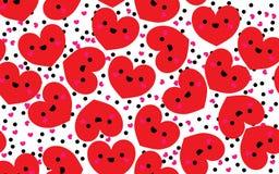 сердца делают по образцу красное безшовное Стоковое фото RF