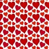 сердца делают по образцу красное безшовное Стоковые Фото