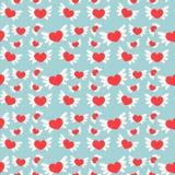 сердца делают по образцу романтичное безшовное вектор Стоковые Фото