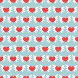 сердца делают по образцу романтичное безшовное также вектор иллюстрации притяжки corel Справочная информация Стоковое Изображение RF