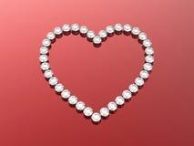 сердца диамантов 3d Стоковые Изображения RF