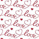 Сердца и картина писем безшовная Стоковое фото RF
