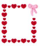 Сердца и рамка смычка бесплатная иллюстрация
