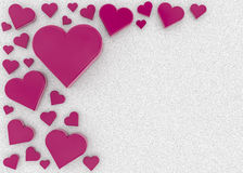 Сердца и сахар Стоковые Изображения