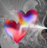 Сердца и фракталь стоковые изображения