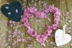 Сердца и цветение Стоковые Фото