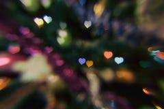 Сердца как предпосылка красный цвет поднял Стоковые Изображения