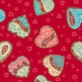 Сердца картины вектора на день валентинки St бесплатная иллюстрация