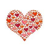 Сердца на белой предпосылке Элемент для карточки дизайна Иллюстрации анимации Ручная работа Стоковые Фотографии RF