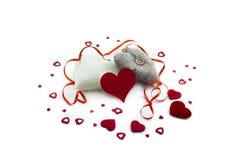 Сердца на белой предпосылке стоковое изображение rf