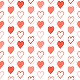 Сердца на белой предпосылке Стоковые Изображения RF