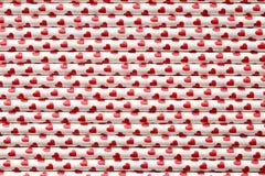 Сердца на бумажных соломах Стоковая Фотография RF
