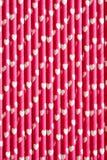 Сердца на бумажных соломах Стоковые Изображения RF
