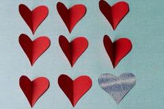 Сердца на день валентинки Святого Стоковые Изображения RF