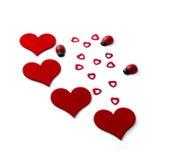 Сердца на день валентинок стоковая фотография rf