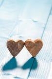 Сердца на деревянной предпосылке Стоковое Изображение RF
