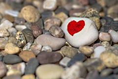 Сердца на камне Стоковое Изображение RF