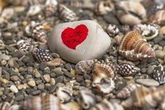 Сердца на камне Стоковая Фотография RF