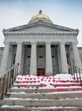 Сердца на шагах палаты Вермонта Стоковые Изображения RF
