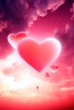 сердца небесные Стоковые Изображения