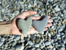сердца облицовывают 2 Стоковые Изображения