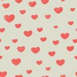 Сердца огорченные красным цветом различных размеров Стоковая Фотография