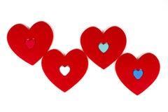 Сердца оставаясь близко к каждому другому Стоковые Изображения