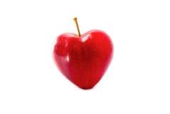 Сердца одного красного цвета яблока Стоковые Фотографии RF