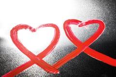 Сердца покрашенные конспектом Стоковое Фото