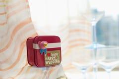 сердца подарка элегантности предпосылки pink романтичное венчание символа Стоковая Фотография